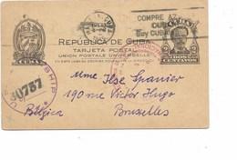 LE 0461. EP 2 C. HABANA-CUBA  23.I.45 Vers BRUXELLES. Grande Censure US 30757 + CUBA En Rge. TB - Cuba