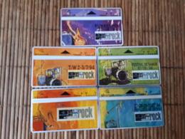 Set 5 Phonecards T.W Belgium Used - Belgique