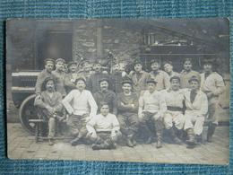 CARTE PHOTO  DES SAPEURS POMPIERS DE PARIS AVRIL JUIN 1914 - Sapeurs-Pompiers