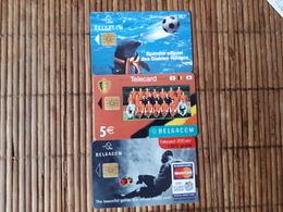 Football 3 Phonecards Belgium Used - Sport
