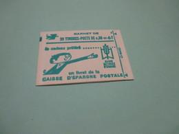 Petit Carnet 20 Timbres à 0,30 C Marianne De CHEFFER  LA POSTE Personnage BD Vert - Markenheftchen