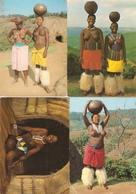 South Africa : Zulu / Zoulou / Zulu Maidens / Zulu Family / Nues / Natal : --- 8 Cards - Afrique Du Sud