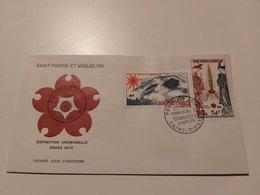 ST PIERRE ET MIQUELON OSAKA ENVELOPPE  FORTE CÔTE - St.Pierre & Miquelon