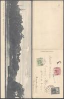 """Carte Postale Dépliante D'Argentine (El Lago, Buenos Aires) Expédié Vers La Belgique Et Taxé à 15ctm + Griffe Bleu """"Taxe - Strafportzegels"""