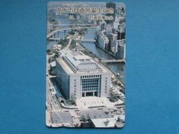 JAPAN PHONECARD NTT 330-18881 RIVER BRIDGE CAR CITY AERIAL VIEW - Giappone