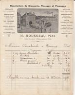 Bordeaux - H.Rousseau Père / Manufacture Brosserie,pinceaux,plumeaux - France