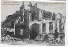 BAZEILLES - GUERRE FRANCO ALLEMANDE 1870/1871 - RUINES DE LA MAISON DE THOMAS FRIQUET - CPA NON VOYAGEE - Other Municipalities