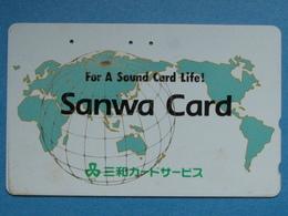 JAPAN PHONECARD NTT 110-011 SANWA CARD WORLD MAP - Giappone