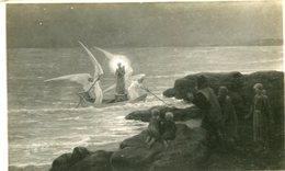Art Peinture Avec Des Anges Sur Une Barque Ecrit De Wissant En 1940 - Schilderijen