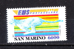 San Marino - 1995. Posta Celere. Ghepardo. Express Post. Cheetah. MNH - Raubkatzen