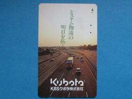 JAPAN PHONECARD NTT 110-011 KUBOTA, CAR TRUCK HIGHWAY - Giappone