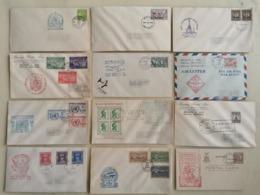 Philipines FDC Lot De 52 Enveloppes Avec Ou Sans Adressede 1941 à 1953 - Philippinen
