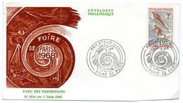 France N° 1543 Y. Et T. Paris Cachet Commémoratif Foire De Paris Du 03/06/1968 - Postmark Collection (Covers)