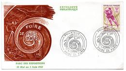 France N° 1544 Y. Et T. Paris Cachet Commémoratif Foire De Paris Du 03/06/1968 - Postmark Collection (Covers)