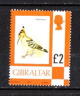 Gibilterra  - 1977.Da Serie Corrente: Upupa. From Current Series. High Values. Alto Valore. MNH - Cuculi, Turaco