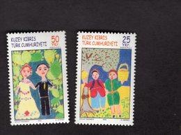 927720727 2005 SCOTT 593 594 POSTFRIS MINT NEVER HINGED EINWANDFREI (XX)  CHILDREN S DRAWINGS - Chypre (Turquie)