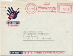 4268 01 MILANO RAMAZZOTTI X ESTE PADOVA - TIMBRO MECCANICO ROSSO - 6. 1946-.. Republik