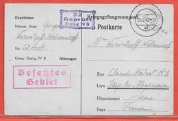 ALLEMAGNE CARTE PRISONNIER DE GUERRE DE 1940 POUR ISSY LES MOULINEAUX FRANCE - Briefe U. Dokumente