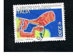 ITALIA REPUBBLICA  -  2004   ARSENALE DI VENEZIA        - USATO ° - 6. 1946-.. Repubblica