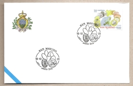 San Marino - Busta FDC Con Annullo Speciale: Benvenuto Euro - 2001 - Monete