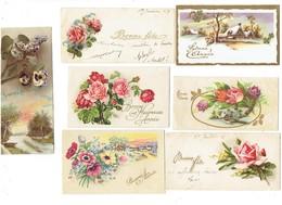 Petite Carte Mignonnette - Lot 21 - Bonne Année Violettes Illustration Fleurs Fer à Cheval MYOSOTIS - Neujahr