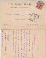 COMMERCIALE - TITO SCARAMUZZO - ARTICOLI ELETTRICITA' - MILANO - VIAGG. 1909 -45172- - Commercio