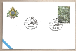San Marino - Busta FDC Con Annullo Speciale: I Colori Della Vita - 2002 - Passeri