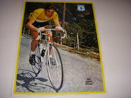 MIROIR Du CYCLISME ENCART MC118 Eddy MERCKX BELGIQUE MAILLOT JAUNE FAEMA 1969 - Deportes