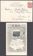 """France - Carte Postale Thématique """"Journal"""" : Le Matin - Dernier Nouvelle Du Monde Entier 30 Novembre 1901 - Histoire"""