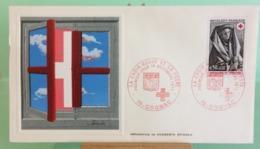 Europa CEPT Croix Rouge -16 Cognac - 1.12.1973 -FDC 1er Jour (Tampon Sèche Au Dos) - FDC