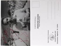 CP - Rodolphe GAUDIN - Journaliste - Signé / Hand Signed / Dédicace Authentique / Autographe - Andere Beroemde Personen