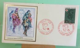 Europa CEPT Croix Rouge (N.R. Dufriche Desgnette - 70 Luxeuil Les Bains - 16.12.1972 -FDC 1er Jour (Tampon Sèche Au Dos) - FDC
