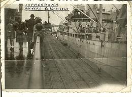 Vieille Photo D'ANVERS ( Antwerpen  ) 16-09-1945  Le COPACABANA . - Boats