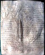 14 CAEN PARCHEMIN 17 ' PLAIDOYER ENTRE NICOLAS LE MARESEZAL  ET BUISSON LE PLANTIER  8 PAGES 1690 DOCUMENT  AUTHENTIQUE - Manuscripts