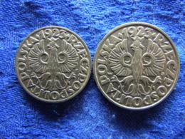 POLAND 20 GROSZY 1923 KM11, 50 GROSZY 1923 KM12 - Polen