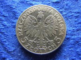 POLAND 5 ZLOTYCH 1933, KM21 - Pologne