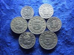 YUGOSLAVIA 50 PARA, 1, 2, 5 DINARA 1953 KM29-KM32, 1, 2, 5 DINARA 1963 KM36-KM38 (7) - Joegoslavië