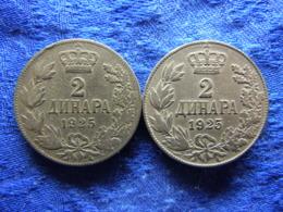 YUGOSLAVIA 2 DINARA 1925, 1925p, KM6 - Yougoslavie