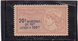 T.F.Taxes Sur Les Paiements N°1A Neuf - Revenue Stamps