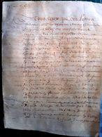 14 CAEN PARCHEMIN 17 'CONTRAT DE MARIAGE ENTRE SIEUR DUHARD ET DANIELLE  LE TREMANCOI 8 PAGES 1662 AUTHENTIQUE - Manuscripts