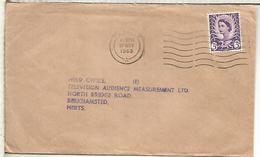 REINO UNIDO CC 1963 CARDIFF SELLO REGIONAL - 1952-.... (Elizabeth II)