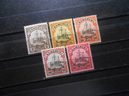 D.R.Mi7/11-13/15  3/25/30/40/80Pf*MLH  - Deutsche Kolonien ( Kamerun )  1900  Mi 11,80 € - Colonie: Cameroun