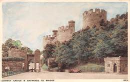 CONWAY CASTLE & ENTRANCE TO BRIDGE, CONWAY ~ AN OLD POSTCARD #95608 - Caernarvonshire