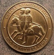 4080 Vz. Cercle Numismatique 100 Templiers 1986 - Kz. Commune D'Estampuis Hainaut - Jetons De Communes