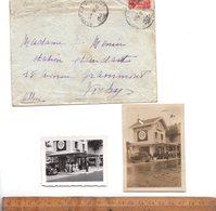 Photographie Originale X2 Photo Station Service Pompe à Essence STANDARD Avenue De Grammont VICHY 1935 - Lieux