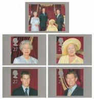 GREAT BRITAIN 2000 Queen Elizabeth The Queen Mother: Set Of 5 Postcards MINT/UNUSED - 1952-.... (Elizabeth II)