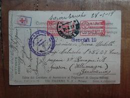 REGNO - Cartolina Inviata A Prigioniero Di Guerra Tramite C.R.I. + Spese Postali - 1900-44 Vittorio Emanuele III