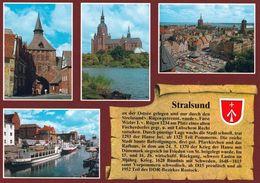 1 AK Germany /  Mecklenburg-Vorpommern * Chronikkarte Von Stralsund Mit Wappen * - Stralsund