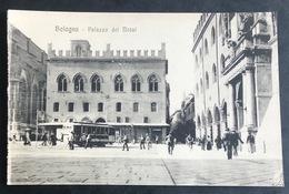 Bologna Palazzo Dei Motai/Tram/ Old Postcard - Bologna