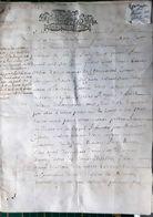 14 CAEN PARCHEMIN 17 ' SENTENCE DES ASSISES CONTRE  LE SIEUR MAHIEU  8 PAGES 1692 AUTHENTIQUE - Manuscripts